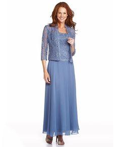Enchantress Chiffon Two-Piece Evening Gown