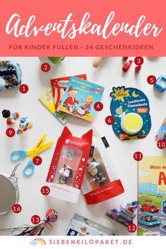 Adventskalender für Kinder füllen - 24 Geschenkideen für 4 Jährige Jungs und Mädchen - Adventskalender Inhalt unisex #Adventskalender #Weihnachten #Advent