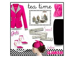"""""""It's time for tea"""" by outfitsloveyou ❤ liked on Polyvore featuring Jupe By Jackie, WithChic, Kate Spade, MacKenzie-Childs, Nine West, Reception and Valentino"""