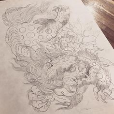 Japanese Tattoo Art, Japanese Art, Foo Dog Tattoo Design, Fu Dog, Asian Tattoos, Japan Tattoo, Irezumi, Japanese Prints, Japanese Culture
