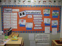 ELL classroom/Vocabulary board