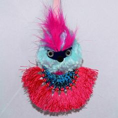 Luxury Designer High Fashion Inspired Faux Fur Poncho Widdle Monster bag bug/ key chain - Faux Fur accessory with a Pendant.