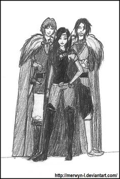 The dragon riders. #eragon #arya #murtagh