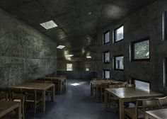 Tianzhoushan Tea House made from concrete by Archiplein