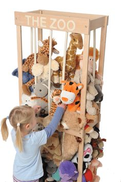 What a great way to organize all those stuffed animals. Think this will be added to the things that need built list