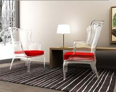Stylish glass chairs