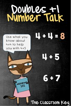 Doubles +1 Number Talk, a strategy for building number sense in just 10 minutes a day, perfect for 1st, 2nd, and 3rd grade math classes