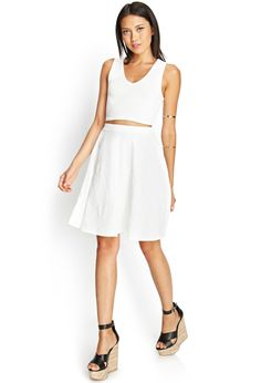 Rose Embossed Circle Skirt | FOREVER21 #SummerForever