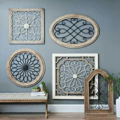 Product Details Natural Arch Wood and Metal Wall Plaque Upgrade your home with rustic pieces. Arched Wall Decor, Iron Wall Decor, Metal Walls, Wood And Metal, Metal Arch, Country Decor, Farmhouse Decor, Idee Diy, Wall Plaques