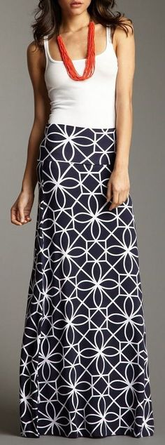 Geo pattern maxi skirt // love.