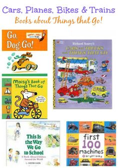 Kids Books about Trains, Boats, Planes and Things that Go are great for long car rides! from KCEdventures / #familytimemachine