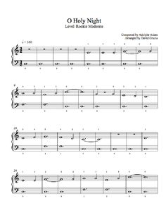 O Holy Night by Traditional Piano Sheet Music | Rookie Level