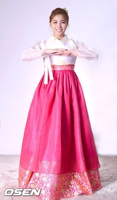 Ailee in the Tradition Korean Hanbok for Lunar New Years