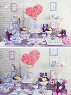 mesa de chá de panela lilás - Pesquisa Google