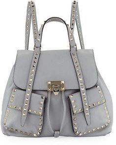 Valentino Rockstud Double-Pocket Backpack Valentino Rockstud, Backpacks,  Backpack 16ccdd5fa3