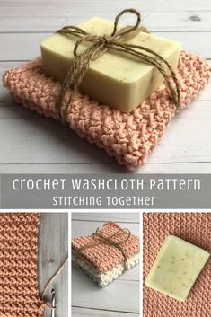 Crochet washcloths This lovely crochet washcloth pattern comes in two different sizes for two different types of yarns. The lighter one makes a soft crochet baby washcloth and the other an all purpose washcloth. Don't forget to save the pattern for later. Crochet Kitchen, Crochet Home, Easy Crochet, Crochet Baby, Quick Crochet Gifts, Crotchet, Knit Gifts, Kids Crochet, Free Crochet