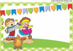 moldura para convite para festa junina - Pesquisa Google