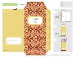 Eid Ramadan, Eid Mubarak Banner, Ramadan Decorations, Happy Eid, Party Themes, Envelope, Creations, Parties, Printables