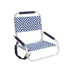 sunnylife beach seat - bronte - Get comfortable in our iconic product! With a fold-up aluminum frame and adjustable carry strap, the Beach Seat features a polyester fabric with an arm and neck rest for optimum comfort and a slip pocket to hold your reading essentials. It's a breeze to carry around, unfold and laze.