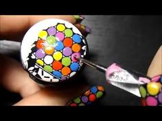 Colorful Rainbow Dots! Advance Nail Stamping Technique. - YouTube