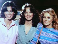 Cheryl Ladd, Jaclyn Smith et Kate Jackson Kate Jackson, Cheryl Ladd, Jaclyn Smith Charlie's Angels, Good Morning Angel, Comedy Tv Series, The Carrie Diaries, Celebrities Then And Now, Farrah Fawcett, Classic Tv