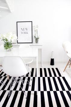 Black and white interior | Scandinavian style home | Finnish home | Eames chairs