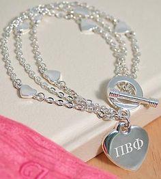 Cute Pi Phi bracelet #piphi #pibetaphi