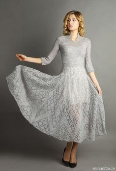 Ариадна ♡ Пряжа Сауле из Латвии,бобины из Италии dress lace knit