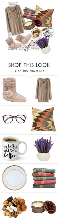 """Уютный вечер"" by elyagilyova on Polyvore featuring Muk Luks, Chicwish and Haviland"