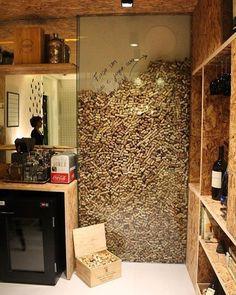 Inspiring Corkwall by Marcella Barcellar - House Decor Ideas 2019 Diy Home Decor Decoration Restaurant, Home Wine Cellars, Wine Cellar Design, Cork Wall, Wine House, Wine Decor, Tasting Room, Wine Storage, Interior Design Living Room