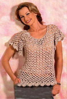 crochet top patterndetailed tutoriallace summer by ThePoshCrochet