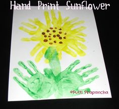 Sunflower #flower #kids #craft #puttiprapancha
