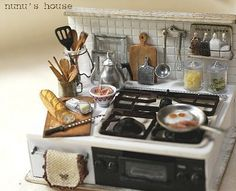 Miniature stove and cooking prep
