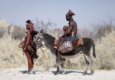 Himba family in . BelAfrique your personal travel planner - www.BelAfrique.com