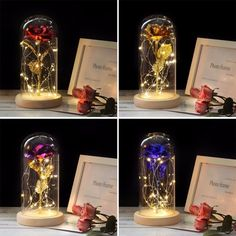 Enchanted Rose, Rose In A Glass, 24k Gold Rose, Forever Rose, Lumiere Led, Led Licht, Romantic Gifts, Romantic Room, Romantic Evening