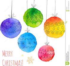 postales de navidad con acuarela - Buscar con Google