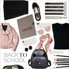Go Back-to-School Shopping! by moody-board on Polyvore featuring Rito, Mackage, River Island, Vans, West Coast Jewelry, Moschino, Christian Dior, Kate Spade and BackToSchool