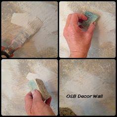 Painting an OSB Decor Wall
