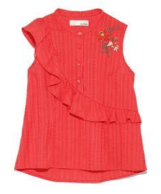アシメフリル刺繍ブラウス(シャツ/ブラウス) Lily Brown(リリー ブラウン)のファッション通販 - ZOZOTOWN