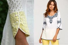50 Latest sleeves design for kurti to try in 2019 Kurti Sleeves Design, Kurta Neck Design, Sleeves Designs For Dresses, Sleeve Designs, Kurta Designs, Blouse Designs, Kurti Embroidery Design, Trendy Sarees, Couture