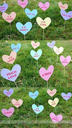 Valentine's Heart Attack Lawn Signs