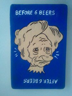 Before and After 6 Beers Wooden Sign by AskMeifIWOOD on Etsy, $12.95