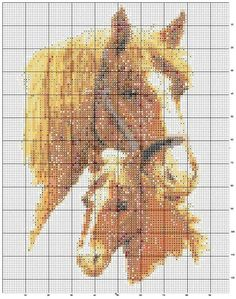 Solo Patrones Punto Cruz Horse and Colt Cross Stitch Horse, Cross Stitch Animals, Counted Cross Stitch Patterns, Kirigami, Baby Horses, Horse Crafts, Horse Art, Textures Patterns, Cross Stitching