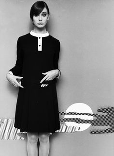 Ina Balke in a mini dress. Hamburg in 1967. Photo by F.C.Gundlach.