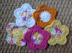 Five All Cotton Facial Scrubbies Pads or Makeup by TooCozy on Etsy, $6.00