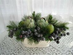 Artichokes and grapes...simple and truly lovely.