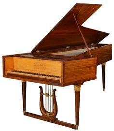 An incredibly rare early 19th Century fortepiano by Freudenthaler, Paris, 1809. 5 pedals, FF-c4. Beautifully restrained and elegant casework in Cuban mahogany with flame maple interior and fine ormolu mounts. Truly exceptional. SOLD