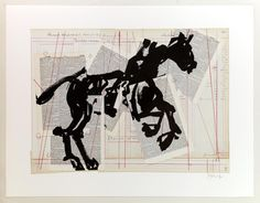 View Universal Archive Horse by William Kentridge on artnet. Browse more artworks William Kentridge from David Krut Fine Art. Black And White Drawing, White Art, African Artists, Monochrom, Linocut Prints, Animation Film, Online Art, Collage Art, Art Quotes