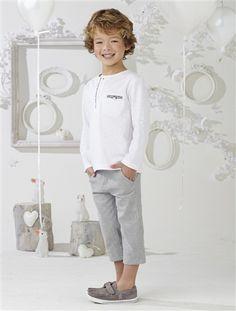 #Conjunto #camiseta + #pantalón pesquero para niño de 2 a 14 El más guapo y moderno de la #ceremonia