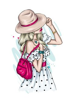 Cartoon Girl Images, Girl Cartoon, Cartoon Art, Girl Drawing Sketches, Girly Drawings, Image Girly, Beautiful Girl Drawing, Modelos Fashion, Pop Art Girl
